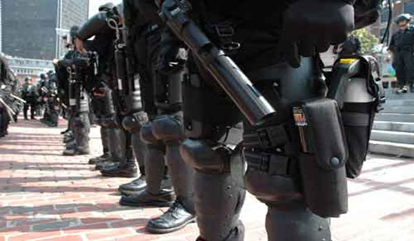 Black-Clad Paramilitary Confiscate Guns In California