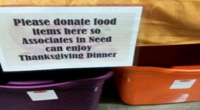 Collecting Donations For Wal-Mart Employees That Cannot Afford Thanksgiving Dinner