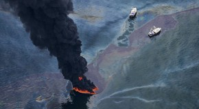The devastation of Deepwater Horizon from above: Mesmerizing photos show Gulf's 210 MILLION gallon oil slick