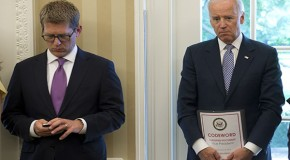 US Vice President Biden Accidentally Flashes Media With Classified Document Titled 'CODEWORD'