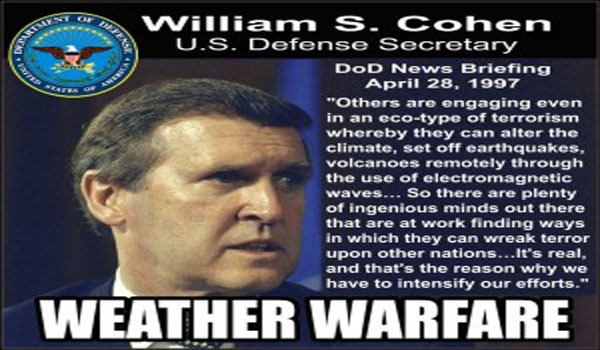 Weather weapons have existed for over 15 years, testified U.S