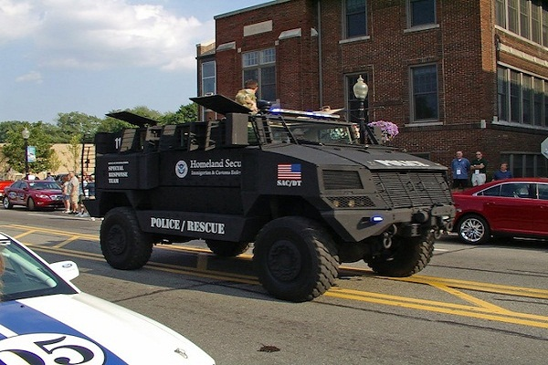 Cops use armored military vehicles to deliver shock and awe during routine police work