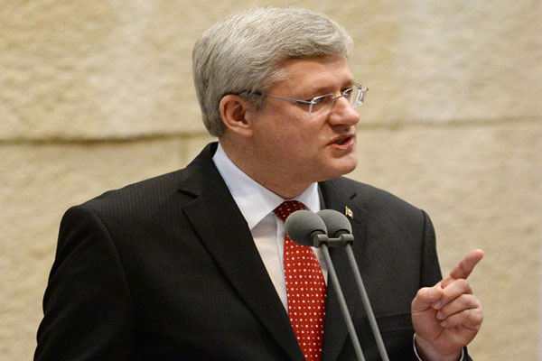 Harper tells Knesset Anti-Zionism is the new face of anti-Semitism