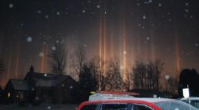 PICS: Mystifying 'Light Pillars' Shine in Ohio
