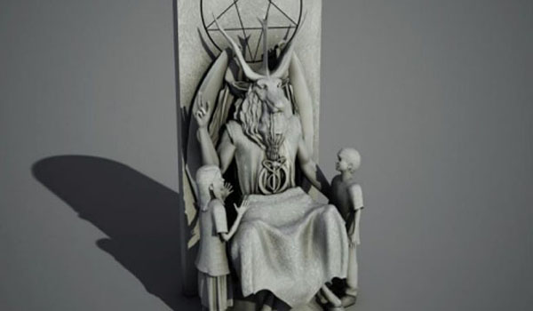 Satanic Temple Unveils 7 Foot Goat Headed Baphomet Statue For Oklahoma Capitol
