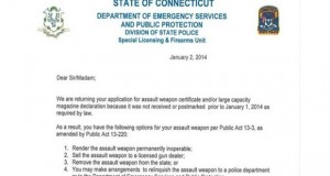 """Surrender Your Firearms,"" Connecticut Tells Unregistered Gun Owners"