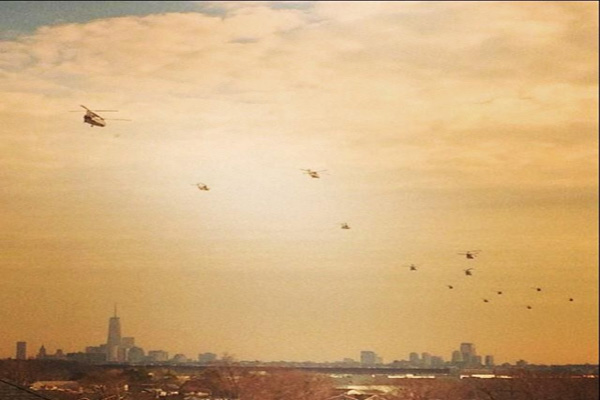 Choppers Prep For War In NYNJ – Or Is This For A Super Bowl False Flag
