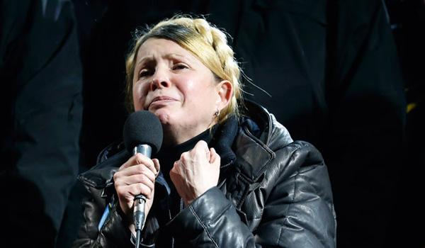 Freed Ukraine ex-PM Tymoshenko tells Maidan to carry on the fight