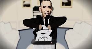 Obama Assassination Cartoon Satire Prompts Secret Service Visit to 'Conrad Constitution' Creator