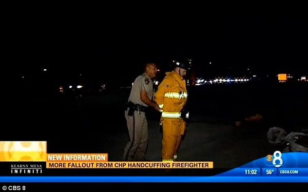 San Diego Cop Handcuffs Firefighter Protecting Crash Victims