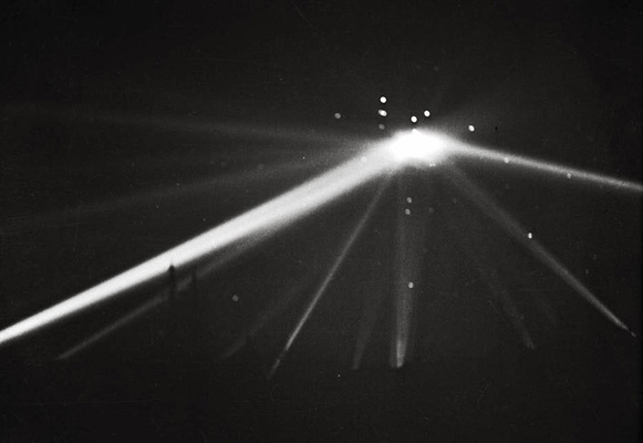 Searchlights Converging On Huge UFO In Battle Of LA