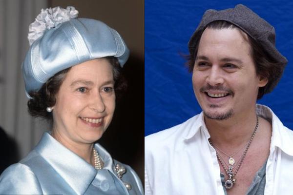 Parentes mais improváveis do mundo Sim, Sua Majestade é realmente primo de Johnny Depp