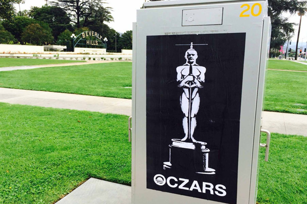 Anti-Obama Street Art Hits Oscars 'Oczars'