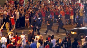 Arizona students riot after losing to Wisconsin in NCAA Tournament, 15 people arrested
