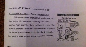 Middle School Assignment: Second Amendment Requires Gun Registration