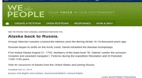 Nearly 6,200 People Sign White House Petition for Alaska to Secede and Join Russia