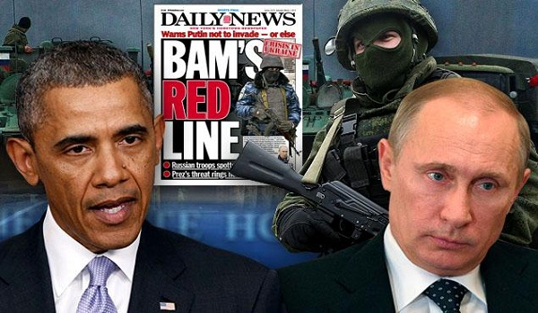 "Obama warns Russia ""there will be costs"" for any military intervention in Ukraine"