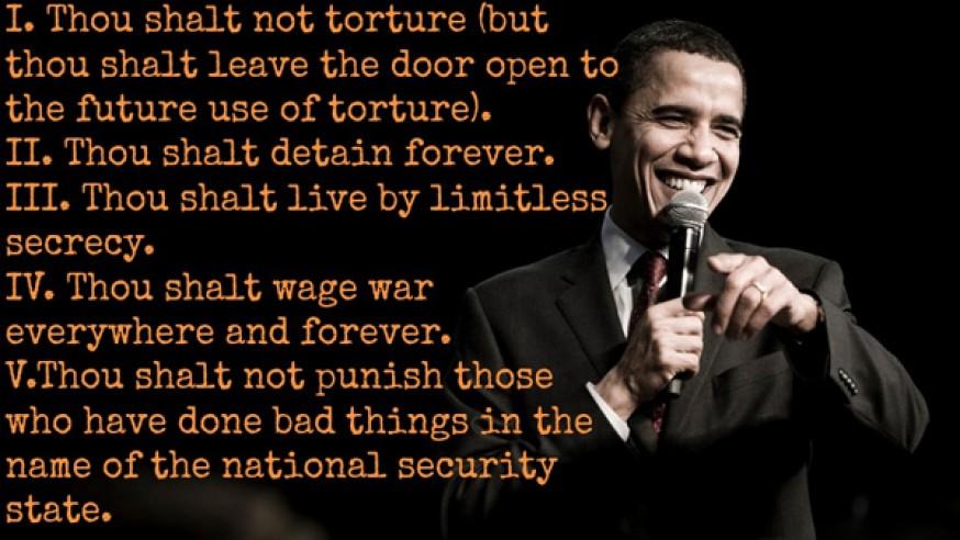 The Five Commandments of Barack Obama