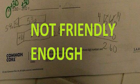 This Common Core math problem asks kids to write the 'friendly' answer, instead of the correct one!