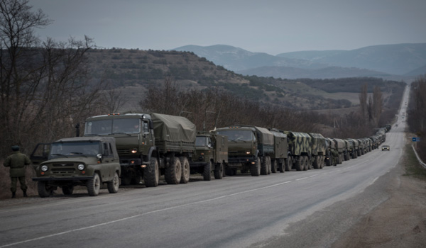 Ukraine's Military Mobilizes, Prepares For Combat: Trucks, APCs, SAMs, Howitzers, Tanks Rolling Out