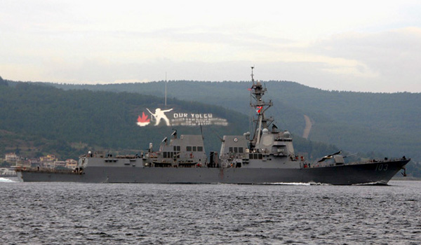 Video: Navy destroyer USS Truxtun crosses Dardanelles en route to Black Sea