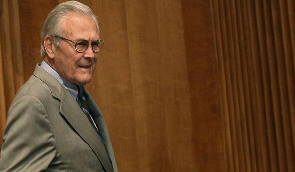'Donald Rumsfeld, the aging criminal'