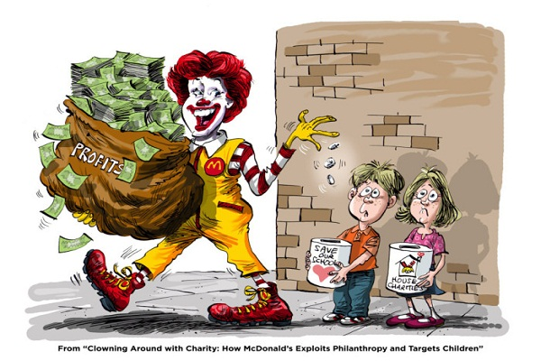 Clowning Around with Charity How McDonald's Exploits Philanthropy and Targets Children