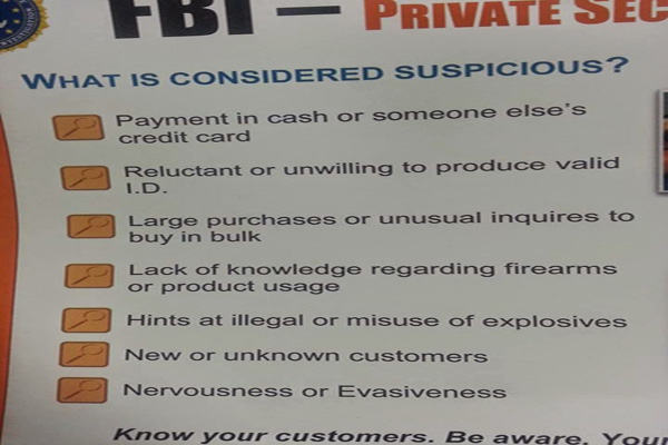 FBI Visiting Gun Shops to Investigate People talking about Big Government