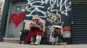Have the homeless become invisible? Video shows people walking past their loved ones 'living' on the street
