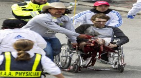 Pictures that Prove Double Amputee was an Actor at Boston Bombings