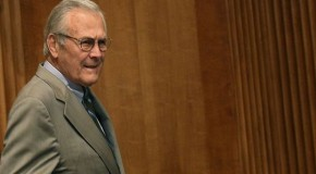 'Donald Rumsfeld, the aging criminal'