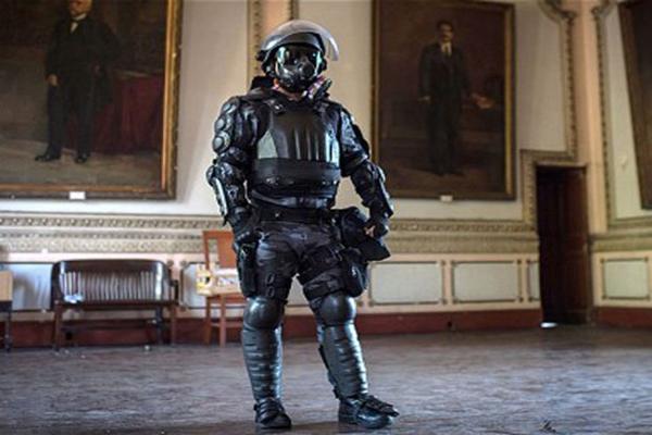 Brazil unveils 'Robocop' suit to protect super-elite police unit during World Cup