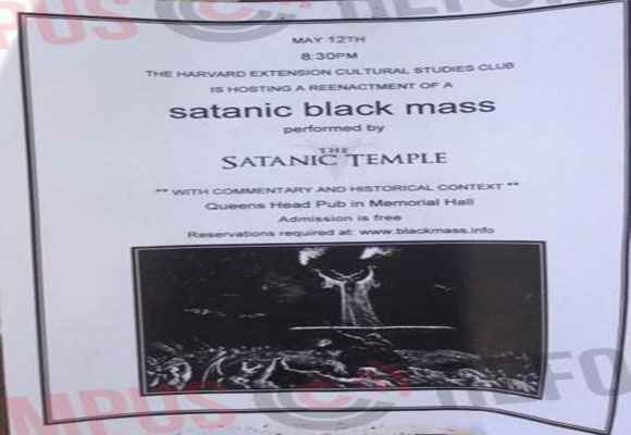 Harvard University Will Host 'Reenactment' of Satanic Mass