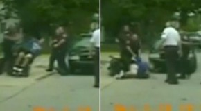 Cop pushes over disabled man in wheelchair after running over his foot