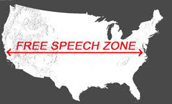 FEDS Set Up Tiny Free Speech Zones Once Again – Are They Insane