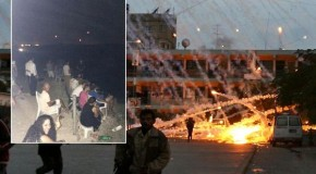 Israelis pictured eating POPCORN and clapping as they watch deadly bombardment of Gaza