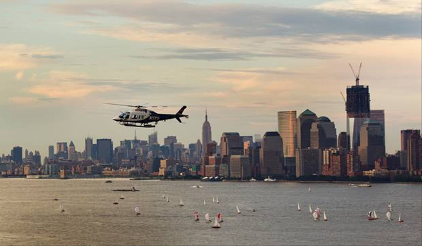 New York police helicopter clashes with amateur drone pilots