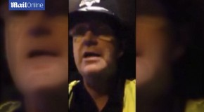 'I will knock you clean f***ing out': Policeman suspended after being caught on camera threatening a young woman TWICE as he patrolled a town centre