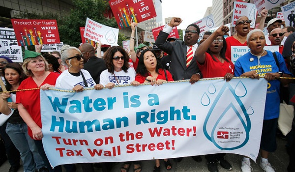 Thirsty for justice Detroit protesters flood streets over water shutdown