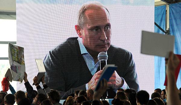 """""""Qualquer coisa que nos toca se transforma em Líbia ou o Iraque 'Top Putin cita no fórum da juventude"""