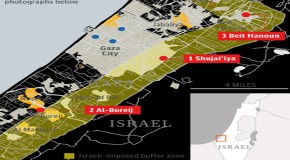 Before and after: satellite images of destruction in Gaza