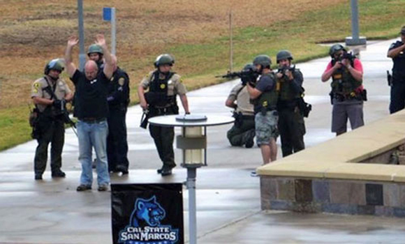 Heavily Armed SWAT Team Swarms Cal State… Because of an Umbrella