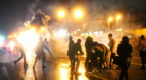 Indefinite curfew: Ferguson police deploy tear gas against protesters