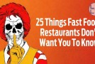 25 Things Fast Food Restaurants Don't Want You To Know