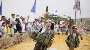 Disturbing photos show militarization of Israeli children