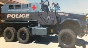 Public School Police Receive Mine-Resistant Ambush Protected Vehicle