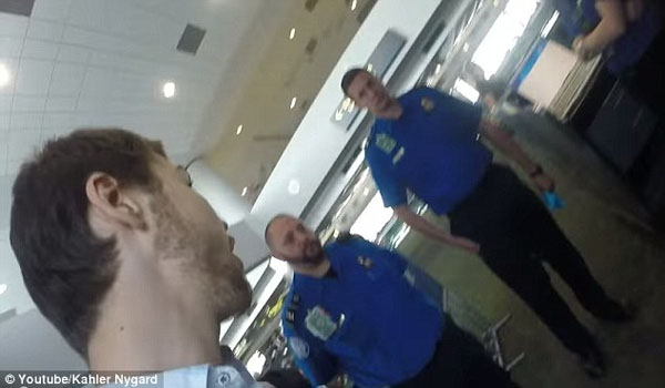TSA Demands to Search Man AFTER Plane Lands. He Filmed His Response.