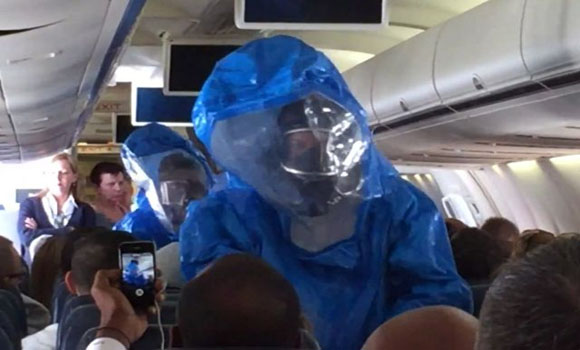 "Airline Passenger Sneezes ""I have ebola, you are all screwed"""