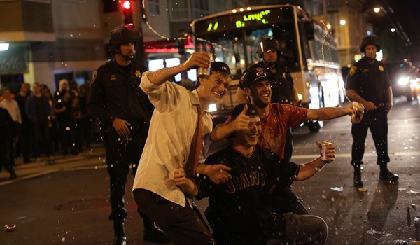 Gunshot wounds, fights with police San Francisco riots after Giants win World Series