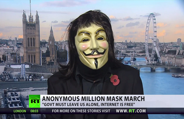Anonymous to RT 'Internet has power to bring down regimes'